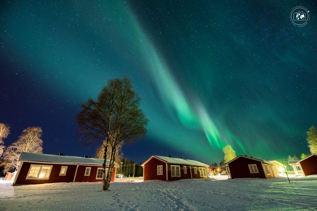 Aurora boreale in val di Tornio nel cuore della Lapponia