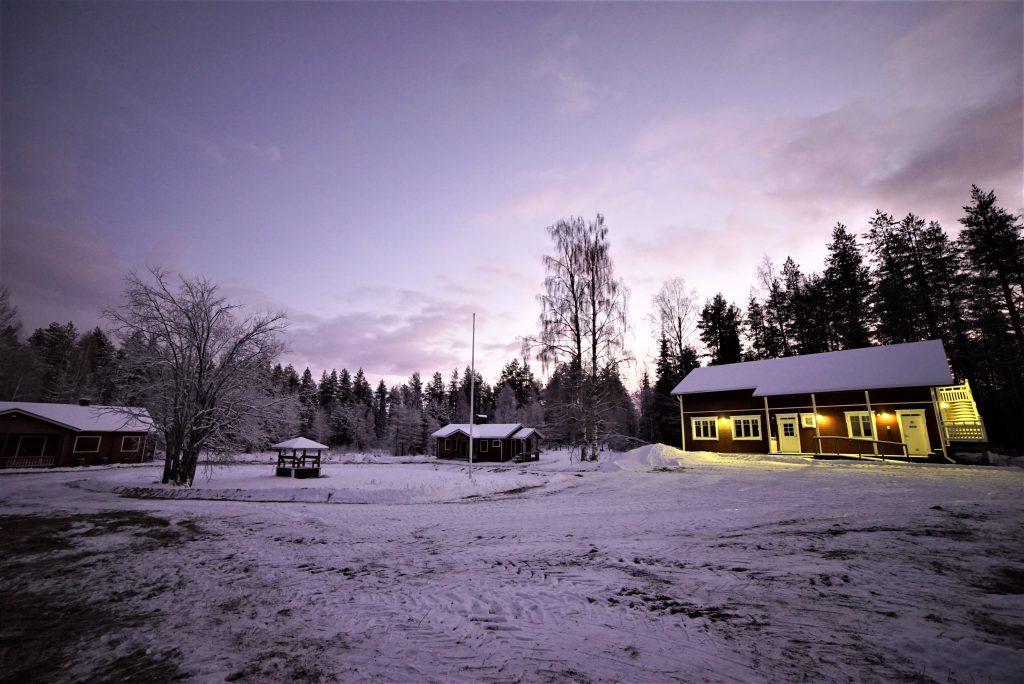 Courtyard early winter 4 purple
